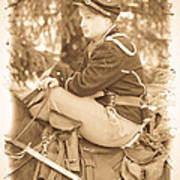 Soldier On Horse Art Print