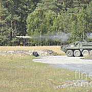 Soldiers Fire A Tow Missile Art Print