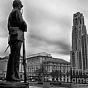 Soldiers Memorial And Cathedral Of Learning Art Print