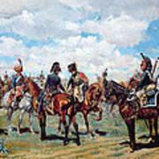 Soldiers On Horseback Art Print