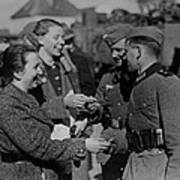 Soldiers Receive Gifts From Austrian Art Print