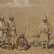 Soldiers Relaxing, 1844 Wc & Gouache On Paper Art Print