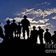 Soldiers Watch Troop Movements At Fort Art Print