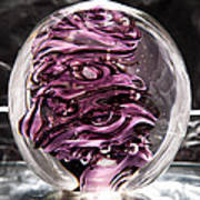 Solid Glass Sculpture Rp5 - Purple And White Art Print
