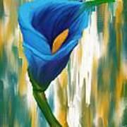 Solitary Blue Art Print