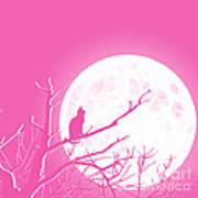 Solitary Pink Background Art Print