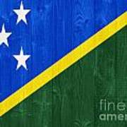 Solomon Islands Flag Art Print