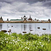 Solovetsky Monastery At Holy Lake Art Print