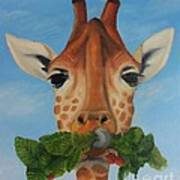 Someone Is Eating My Garden Print by Pam Fries