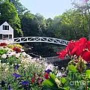 Somesville Bridge And Home Art Print