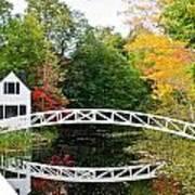 Somesville Bridge In Autumn Art Print by Lena Hatch