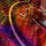 Song And Dance Digital Guitar Art By Steven Langston Art Print