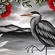 Song Of The Heron Art Print