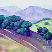 Sonoma Hills Art Print by Robert Hooper