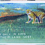 Soon Only In Zoos  Their Land Lost Art Print