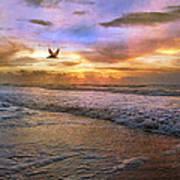 Soothing Sunrise Art Print by Betsy Knapp