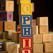 Sophia - Alphabet Blocks Art Print