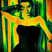 Sophia Loren - Neon Pop Art Art Print