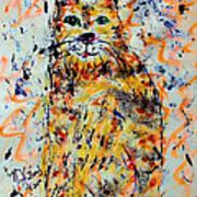 Sophisticated Cat 3 Art Print