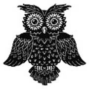 Sophisticated Owls 1 Of 4 Art Print