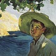 Sorollajoaqu�n 1863-1923. Boy With Hat Art Print