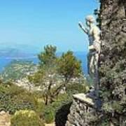 Sorrento Peninsula From Mt Solaro Capri  Art Print