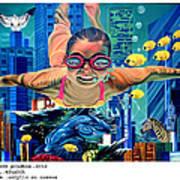 Sosial Aquarium Art Print