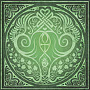 Soul Mates - Green Print by Cristina McAllister
