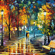 Soul Of The Rain - Palette Knife Oil Painting On Canvas By Leonid Afremov Art Print