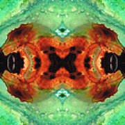 Soul Symphony - Abstract Art By Sharon Cummings Art Print