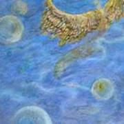 Soul's Flight In The Ocean Of Time And Space Art Print by Jacquelyn Roberts