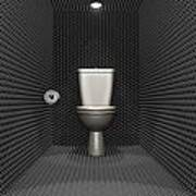Soundproof Toilet Cubicle Art Print