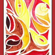 Sounds Of Color Doodle 2 Art Print
