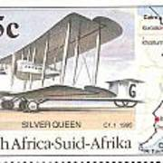 South Africa Stamp Art Print