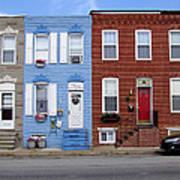 South Baltimore Row Homes Art Print