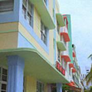 South Beach Facades Art Print