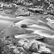 South Boulder Creek Little Waterfalls Rollinsville Bw Art Print