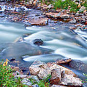 South Boulder Creek Little Waterfalls Rollinsville Art Print