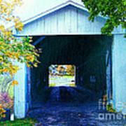 South Denmark Rd. Covered Bridge Art Print