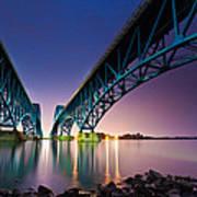 South Grand Island Bridge Art Print