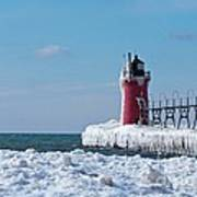 South Haven Ice Art Print