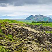 South Iceland Landscape Pingvellir Art Print