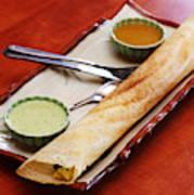 South Indian Snacks Masala Dosa Art Print