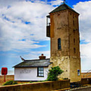 South Lookout Tower Aldeburgh Beach Art Print