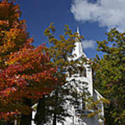 South New Hope Church - Fall Art Print