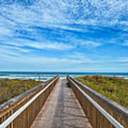 South Padre Island Walkway Art Print
