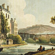 South Parade From Bath Illustrated Art Print by John Claude Nattes