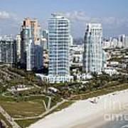 South Pointe Park Miami Beach Florida Art Print