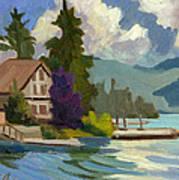 South Shore Big Bear Lake Art Print