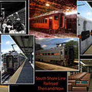 South Shore Line Railroad Collage Art Print